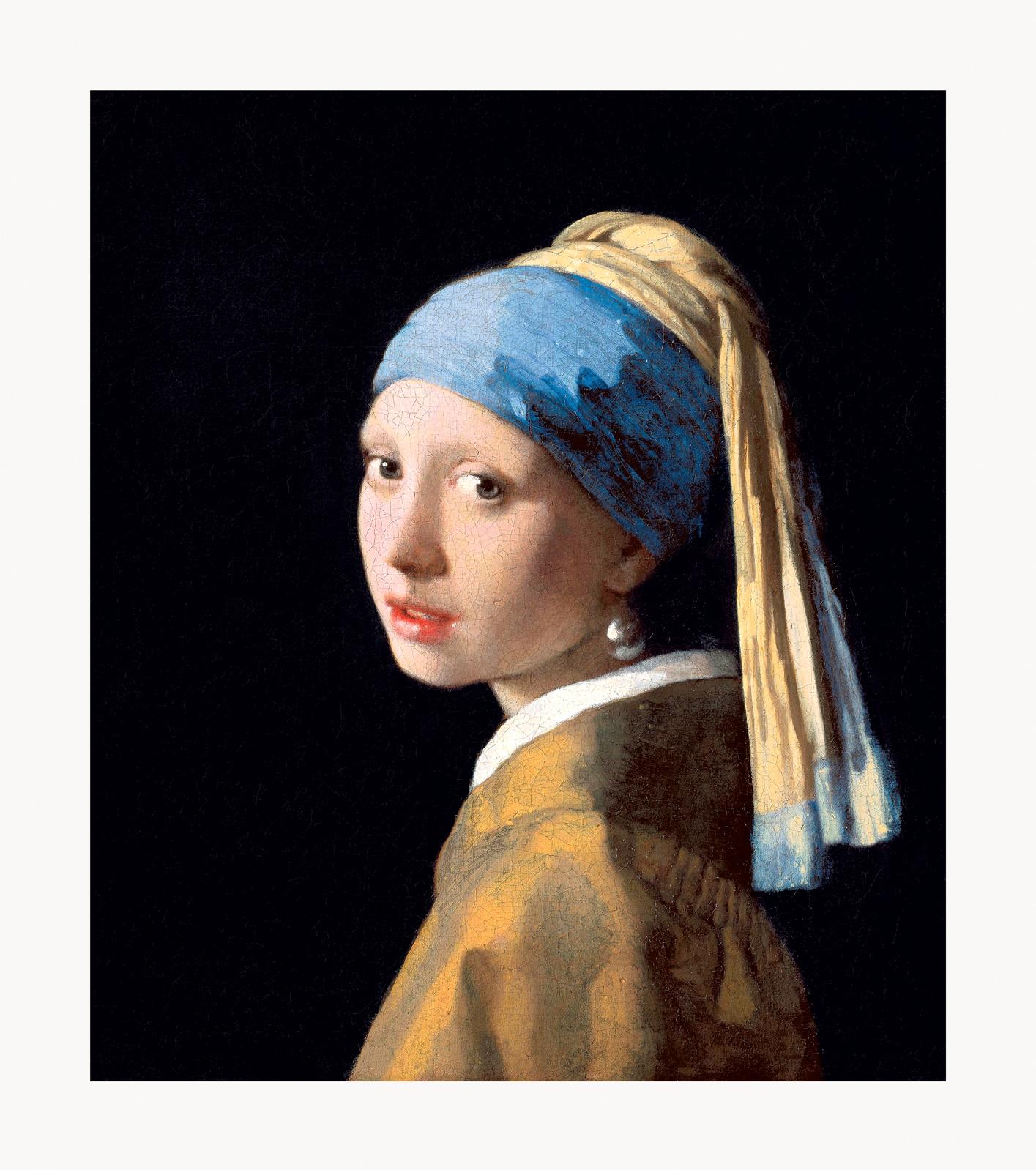 Johannes Vermeer Girl with a Pearl Earring Framed Canvas ...