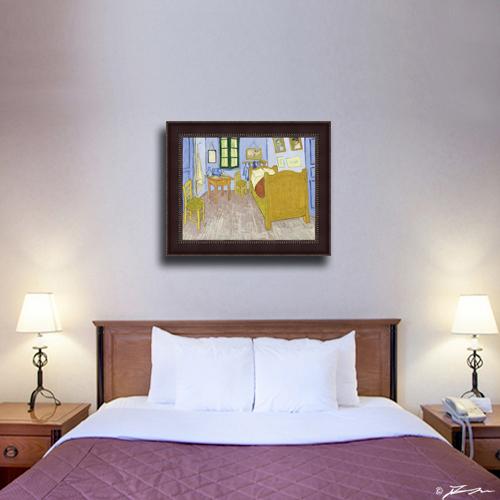 Vincent van Gogh Bedroom in Arles Framed Canvas Giclee