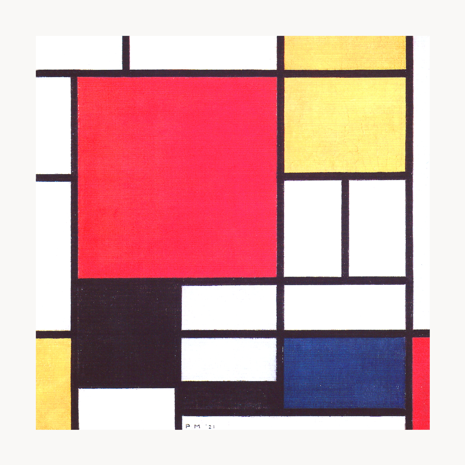 Plexiglass Table Top Protector Piet-Mondrian-Composition-in-Red-Yellow-Blue-and-Black-Framed-27-034 ...