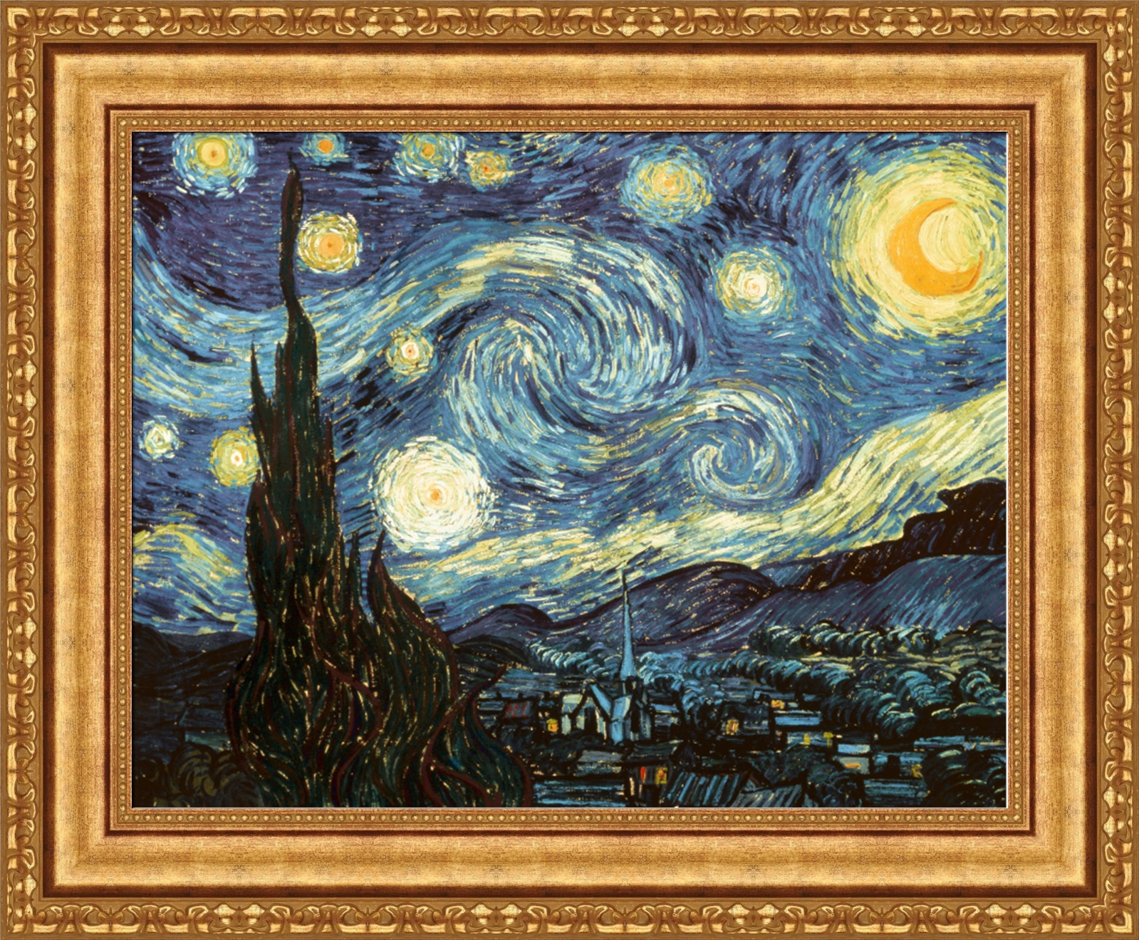 Vincent Van Gogh The Starry Night Framed Canvas Giclee