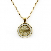 "Exo Jewel Men's Fashion Pendant Necklace with 24"" Round Box Chain 01"