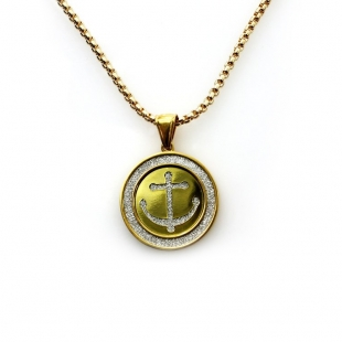 "Exo Jewel Men's Fashion Pendant Necklace with 24"" Round Box Chain 03"