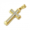 """Stainless Steel Cross Pendant Necklace with 30"""" Stainless Steel Chain 01"""