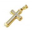 "Stainless Steel Cross Pendant Necklace with 30"" Stainless Steel Chain 01"