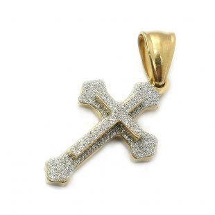 """Stainless Steel Cross Pendant Necklace with 30"""" Stainless Steel Chain 05"""